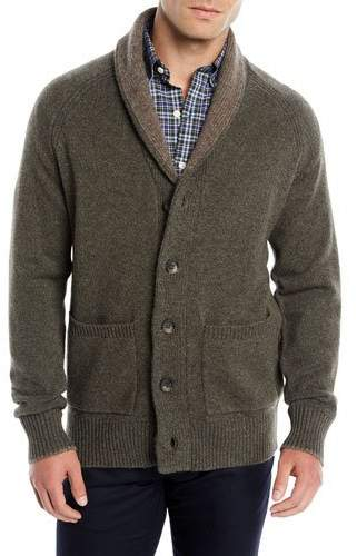 Peter Millar Men's Shawl-Collar Wool-Yak Cardigan