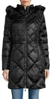 1 Madison Faux Fur-Trimmed Quilted Coat