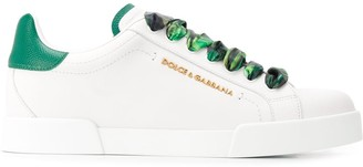 Dolce & Gabbana Printed Laces Low-Top Sneakers