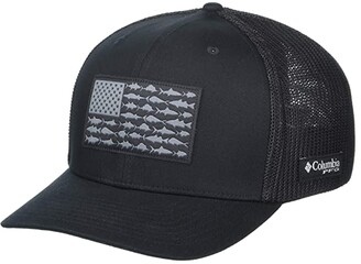 Columbia PFG Mesh Ball Cap XXL (Carbon/PFG Hook Patch) Caps