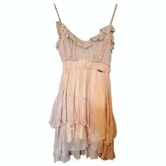 John Galliano Beige Silk Dress for Women