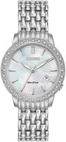 Citizen 29mm Stainless Steel Bracelet Watch w/ Diamond Bezel