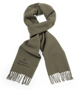 Vivienne Westwood Classic Embroidered Scarf in Taupe