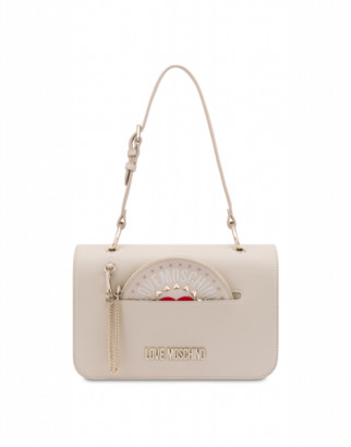 Love Moschino Shoulder Bag With Clutch Woman White Size U It - (one Size Us)