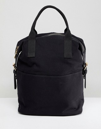 Asos Design DESIGN zip over canvas backpack with double handle