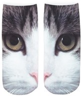Forever 21 Cat Graphic Ankle Socks