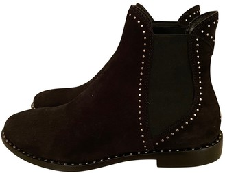 Jimmy Choo Black Suede Ankle boots
