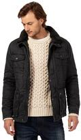 Mantaray Big And Tall Dark Grey Waxed Jacket