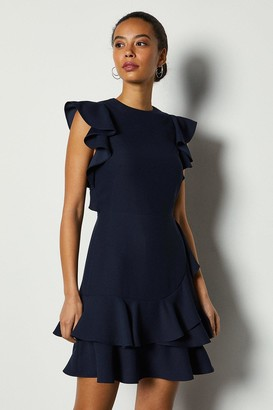 Karen Millen Frill Sleeve and Hem Dress