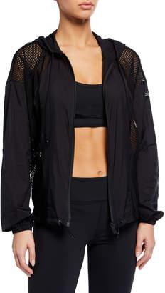 Alo Yoga Feature Hooded Mesh Jacket