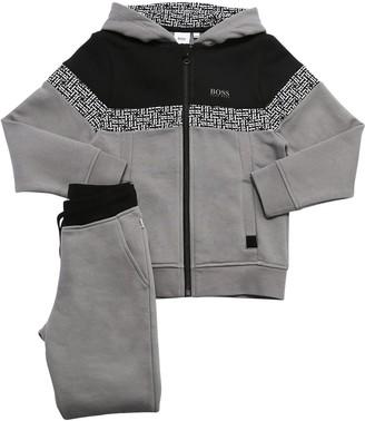 HUGO BOSS Logo Cotton Sweatshirt & Sweat Pants