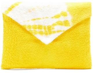 Kilometre Paris - Tie-dye Cotton-terry Envelope Pouch - Yellow Multi