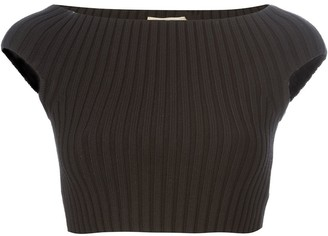 Michael Kors Ribbed Cropped Top