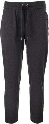 Brunello Cucinelli Lightweight Stretch Cotton Sweatpants With Shiny Zipper Cuffs Anthracite