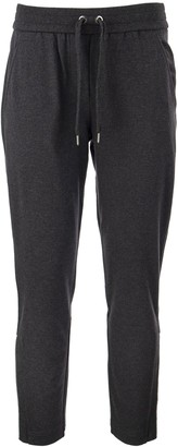 Brunello Cucinelli Lightweight Stretch Cotton Sweatpants With Shiny Zipper Cuffs