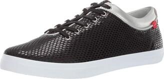 Marc Joseph New York Womens Leather Grand Bleecker Street Sneaker Loafer Black Snake 11 M US
