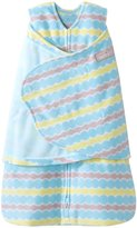 Halo Swaddle Fleece Wave Print - Blue Wave - Small