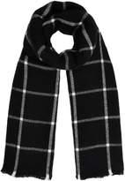 Linea Marie monochrome block check scarf