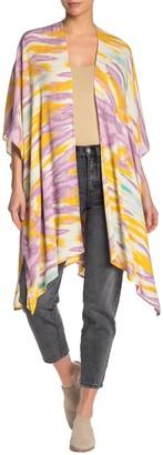 Lush Printed Open Front Kimono