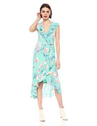Donna Morgan Women's Ruffle WRAP Dress