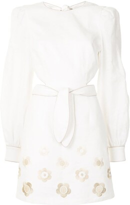 Rebecca Vallance Floral Embroidered Dress