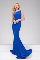 Jovani Long Open Back Prom Dress 37592