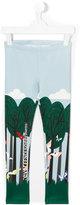 Fendi graphic print leggings - kids - Polyester/Spandex/Elastane - 6 yrs