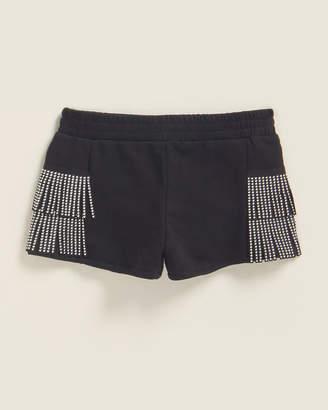 Mia Girls 7-16) Fringe Stud Shorts