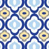 Caden Lane Ikat Collection Mod Single Sheet, Blue by