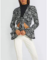 Missguided V-neck Floral-print Woven Blouse