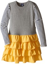 Toobydoo Back to School Ruffle Dress (Toddler/Little Kids/Big Kids)