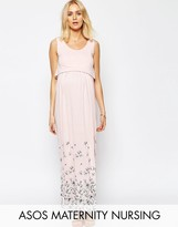 ASOS Maternity - Nursing ASOS Maternity NURSING Maxi Nightdress In Floral Print