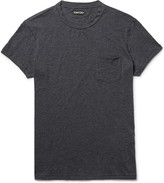 Tom Ford - Slim-fit Mélange Cotton And Cashmere-blend T-shirt