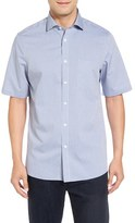 Nordstrom Smartcare TM Regular Fit Windowpane Short Sleeve Sport Shirt