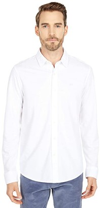 Dockers Long Sleeve 360 Ultimate Button-Up Shirt (Paper White) Men's Clothing