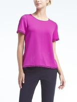 Banana Republic Pom Pom Crossback Top