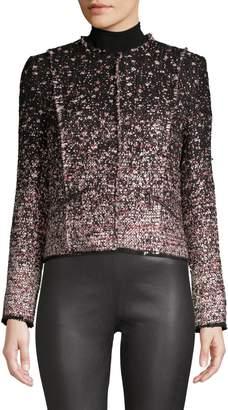 Elie Tahari Alianna Ombre Tweed Jacket