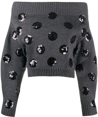 Monse Sequin-Embellished Merino Wool Jumper