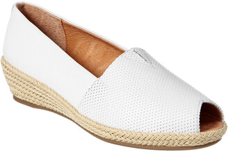 Gentle Souls Luci A-Line Leather Wedge Sandal