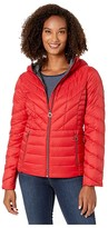 MICHAEL Michael Kors Short Packable with Hood M824134TZ (Black) Women's Coat