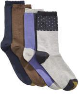 Gold Toe Women's 4-Pk. Dot Border & Colorblocked Crew Socks