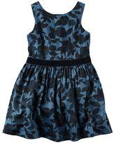 Carter's Toddler Girl Navy & Velvet Dress