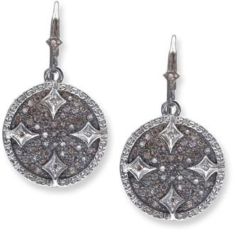 Armenta New World Diamond Disc Drop Earrings