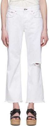 Rag & Bone White Rosa Boyfriend Cropped Jeans
