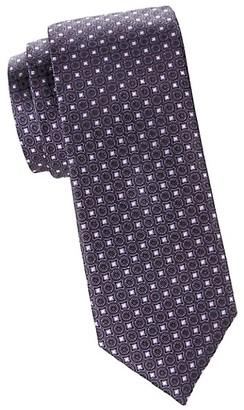 Canali Silk Medallion Print Tie