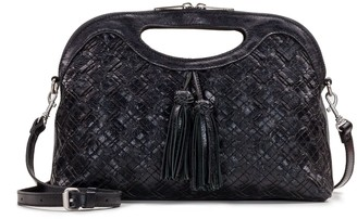 Patricia Nash Leather Braided Stitch Large Clutch - Sanza