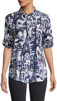 Karl Lagerfeld Paris Whimsical Collared Button-Down Shirt
