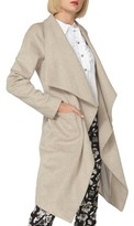Dorothy Perkins Women's Drawn Waterfall Belted Long Coat