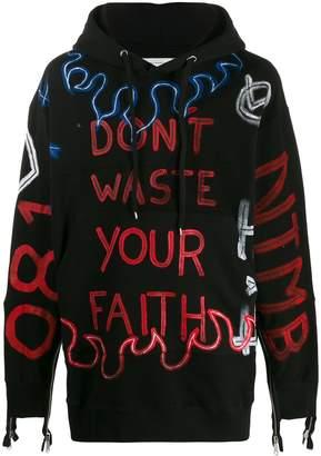 Faith Connexion scribble print hoodie