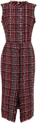 Alexander McQueen Frayed Tweed Dress